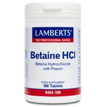 Lamberts Betaína HCI 324 mg Pepsina 5 mg 180 comp