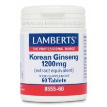 Lamberts Ginseng Coreano 1200Mg 60 cap