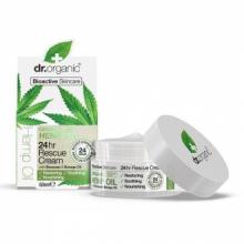 Dr Organic Crema Rescate 24H. Aceite de Cáñamo 50ml
