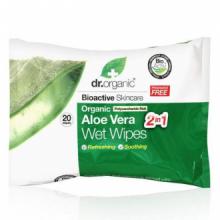 Dr Organic Toallitas Húmedas Aloe Vera Orgánico 20 Ud