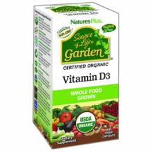 Natures Plus Garden Source Of Life Vitamina D3 60 cap