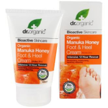 Dr Organic Crema Para Pies y Talones Miel de Manuka 125ml