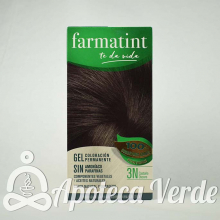 Farmatint Gel Coloración permanente 3N Castaño Oscuro 135ml