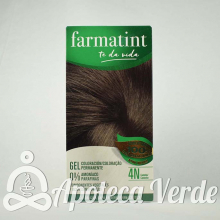 Farmatint Gel Coloración permanente 4N Castaño 135ml
