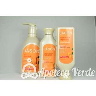 Pack Ahorro de Champú, Acondicionador y Gel de ducha Albaricoque de Jason